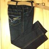 Детские джинсы для мальчика на резинке 2-6 лет Beebaby Бибеби