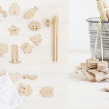 Деревянная игра игрушка для малышей магнитная рыбалка