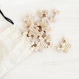 Детский деревянный конструктор балансир Силачи