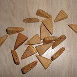 Заготовки для браслета, заготовки для рун треугольные бук 18 штук