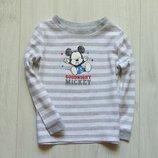 Стильный лонгслив для маленького модника. Disney at George. Размер 12-18 месяцев