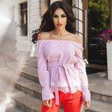 блуза полоска Хит этого лета-полоска и нежнейшее кружево Ткань хлопок, отделка дорогое кружево
