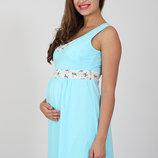 Ночная сорочка для беременных и кормящих Sela, голубая