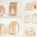 Детский деревянный домик, адвент конструктор