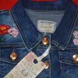 джинсовый пиджак с цветочным принтом Seagull