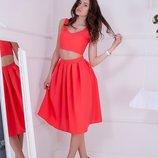 Женский костюм много расцветок юбка Миди топ