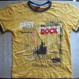 Желтая футболка Deniz, мальчику на 128-134 рост
