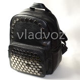 Молодежный модный женский рюкзак девочка черный 3336