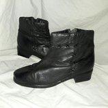 Ботинки ботильйоны кожаные 40-41размер по стельке 26см
