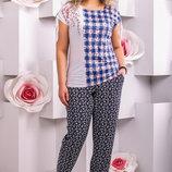 Легкие женские брюки до 58 разер 841
