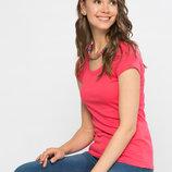 в наличии фирменная женская футболка LC Waikiki насыщенно-кораллового цвета