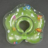 Круг для купания младенца с погремушками , круг на шею для купания