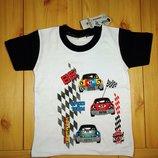 Детская футболка для мальчика Машинки рр. 98-104 Beebaby Бибеби