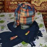 Шапка и шарф для мальчика 6-11 лет