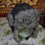 Зимняя шапка-ушанка для мальчика 6-10 лет