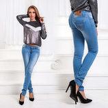 Женские летние стильные джинсы до больших размеров 005.