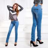Женские летние стильные джинсы до больших размеров 002.