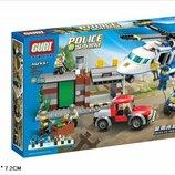 Конструктор GUDI 9319 полиция 628деталей аналог лего