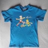 Хлопковая футболка на 8-9 лет рост 134-140 см