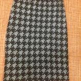 Тонкая летняя стильная юбка карандаш пояс резинка