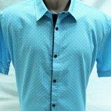Футболка-Поло мужская OT-Thomas меланж синий XL,2XL,3XL,4XL