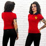 Женская стильная футболка-поло 2104 PORSCHE .
