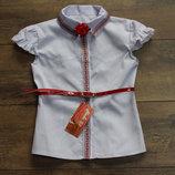 Школьная, нарядная блузка, вышиванка для девочки. Польша.