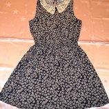 Лёгкое хлопковое платье New Look c кружевным воротничком.