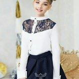 Школьные блузки большой выбор122-152р.