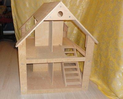 Бесплатная доставка Кукольный двухэтажный дом, домик. Размер 85-78-64 см