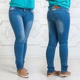 Женские летние стильные джинсы до больших размеров 006.