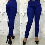 Женские стильные брюки стрейч в больших размерах 184 Джинс Цвет в расцветках.