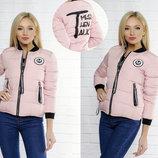 Женская стильная демисезонная куртка на синтепоне в больших размерах 711-1 COM & JULY в расцветках