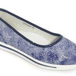 Туфли на танкетке для девочки летние, синие хамелеон, C-T10-22-A Tom.M размеры 33, 34, 35, 36, 37