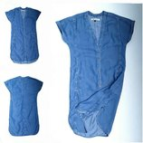 джинсовое платье -рубашка свободного кроя