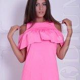 Сарафан, платье с воланом летнее много цветов
