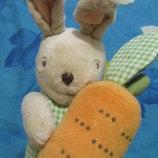 Игрушка погремушка зайка заец зайчик