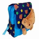 Детский рюкзак для мальчиков с мишкой синий