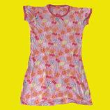 Яркая хб ночная рубашка,рост 122-128 см,HEMA