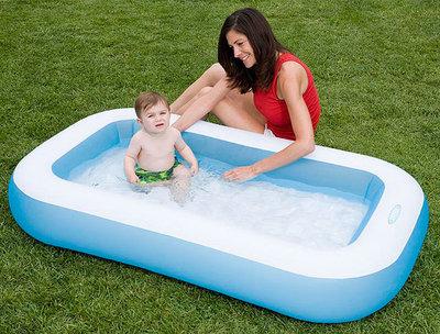 Детский надувной бассейн дно надувное 166 100 28см Интекс Intex 57403