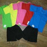 Футболочки цветные однотонные для детского сада опт