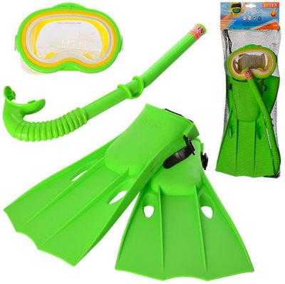 Набор для плавания маска ласты трубка размер М 55955 Интекс Intex