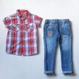 Джинсы рубашка для мальчика 2-3 лет