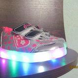 Светящиеся кроссовки девочке Clibee р.21-26