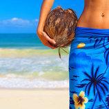 Стильная пляжная юбка,парео индиго синяя новая one size