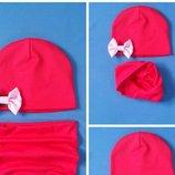 шапка и хомут разние расцветки 0-9л. В асортименте