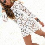 туника из хлопкового кружева парео пляжное платье туника пляжная туника