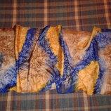 Шелковый красивый шарф ручной работы, 100 % шёлк, 152 см х 43 см