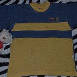 Футболочка полосатая жёлто-голубого цвета фирмы PAPALINA SPORT Турция , 100% хлопок.