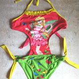 Купальник девочке цветастый сдельный, на 128 рост